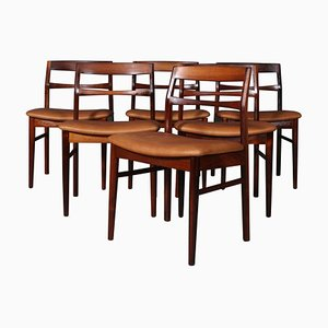 Rosewood Dining Chair by Henning Kjærnulf, Set of 6