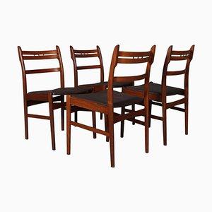 Esszimmerstühle von Arne Olsen Hovmand, 4er Set