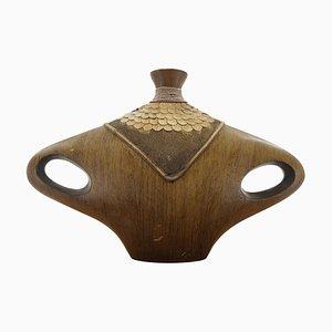 Mid-Century Wood Vase, 1960s