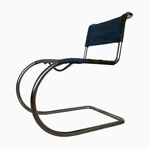 Sedia MR10 Bauhaus cromata di Ludwig Mies van der Rohe per Thonet, anni '30