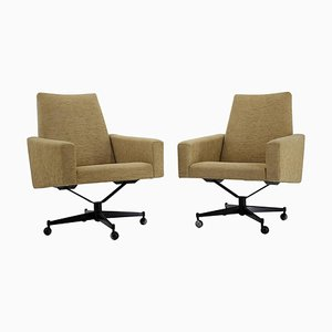 Swivel Armchairs, Czechoslovakia, Ste of 2