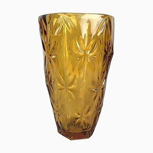 Bernsteinfarbene Vintage Glasvase, 1970er