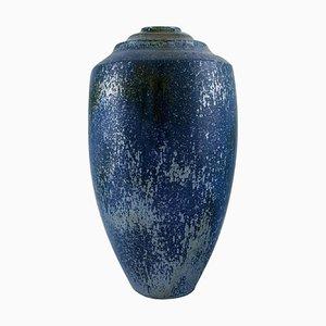 Große Keramik Vase mit Metallischer Glasur