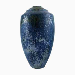 Large Ceramic Vase with Metallic Glaze