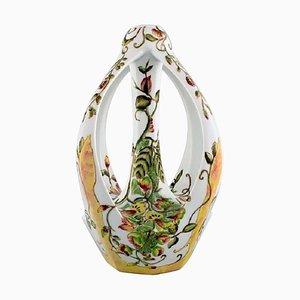 Art Nouveau Vase in Krakelee Keramik von T. Colenbrander für Ram, 1930er