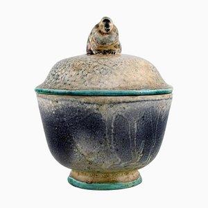 Glasierter Krug aus Keramik mit Deckel von Knud Kyhn für Kähler