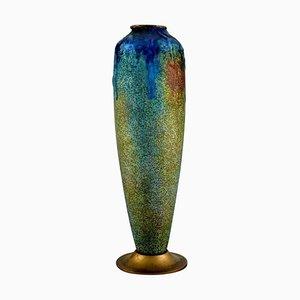 Vaso in bronzo di Paul Bonnaud per Limoges, Francia, anni '10