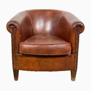 Vintage Sheep Leather Club Chair