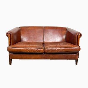 Vintage 2-Sitzer Sofa aus Schafsleder