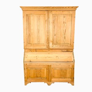 Antique Swedish Pine Wooden Kitchen Cabinet