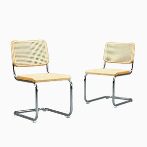 S 32 Cantilever Black Chair by Marcel Breuer for Thonet