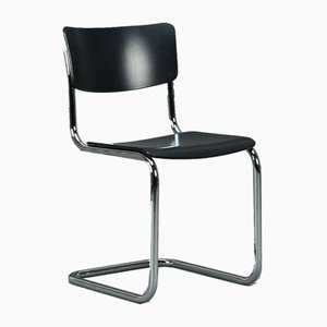 Thonet S 43 Cantilever Black Chair