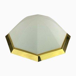 Lámpara de techo Plafoniere de vidrio de Limburg Glashütte, años 70