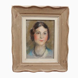 Collier Portrait de Femme en Perle par Charles Camoin, 1920s