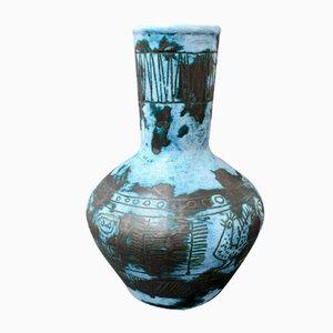 Vintage French Ceramic Flower Vase by Jacques Blin, 1950s
