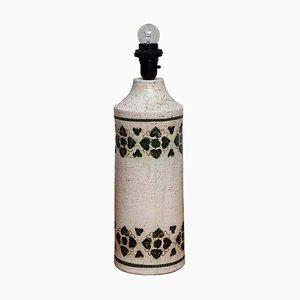 Italienische Keramik Tischlampe von Bitossi für Bergboms, 1970er