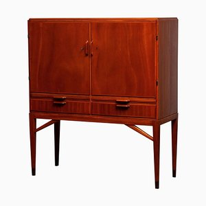 Mahogany Dry Bar / Cabinet from Marbo Sweden, 1950s