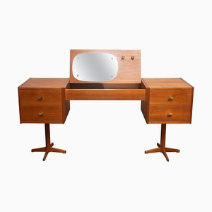 Scandinavian Dressing Table in Teak and Brass, Sweden, 1960s