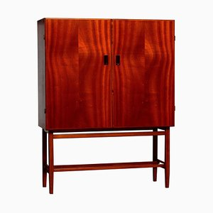 Mid-Century Mahogany Dry Bar or Cabinet from Forenades Mobler, 1950s