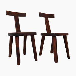 Sculptural Chairs by Olavi Hänninen Nupponen for Mikko, 1950s, Set of 2