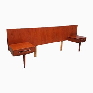 Mid-Century Teak Headboard With Bedside Tables from G-Plan