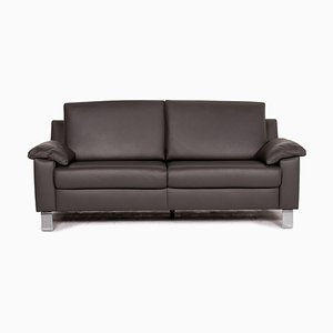 Grey Leather 3-Seater Sofa by Ewald Schillig