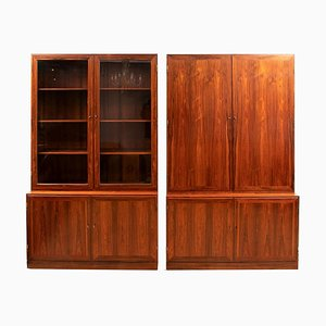 Danish Rosewood Alcove Bookcases by Kai Winding, 1970s, Set of 2