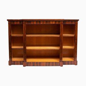 Breakroom Bücherregal aus Palisander mit Messing Intarsien, 1870er, 19. Jh