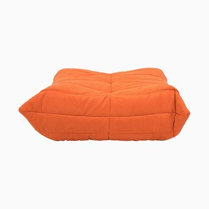 Mid-Century Togo Orange Footstool by Michel Ducaroy for Ligne Roset