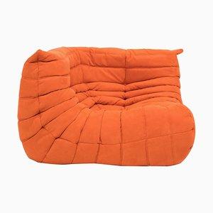 Canapé d'Angle Togo Mid-Century Orange par Michel Ducaroy pour Ligne Roset