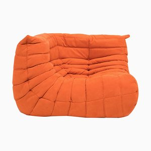 Mid-Century Togo Orange Corner Sofa by Michel Ducaroy for Ligne Roset
