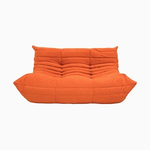 Mid-Century Togo orange Sofa by Michel Ducaroy for Ligne Roset