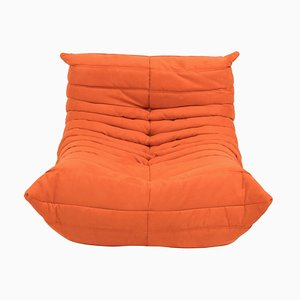 Mid-Century Togo Orange Armchair by Michel Ducaroy for Ligne Roset