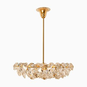 Crystal Chandelier in Brass and Crystal Glass from Bakalowits & Söhne, 1960s