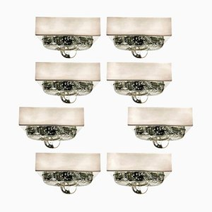 Lampada da parete o da soffitto in vetro soffiato a mano di Doria, 1970