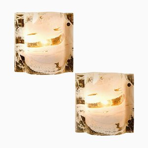 Applique in vetro di Murano e ottone di JT Kalmar, Austria, anni '60, set di 2