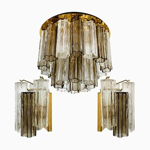 Lámparas de cristal de Murano de JT Kalmar, Austria, 1960. Juego de 3