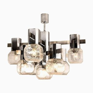 Chrome Sputnik Chandelier in the Style of Sciolari, 1970s