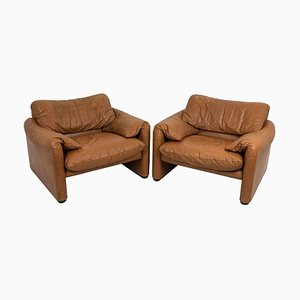 Maralunga Armchairs by Victor Magistretti, 1973, Set of 2