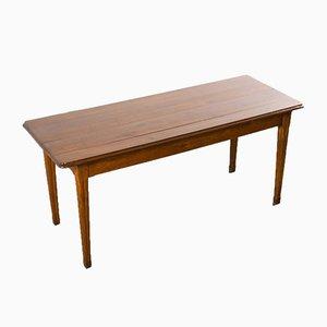 Mesa de comedor francesa rectangular de madera de peral, años 50
