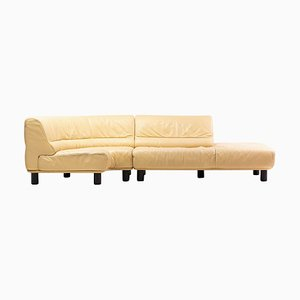 DS-18 Leather Sofa in Biscuit Leather from de Sede