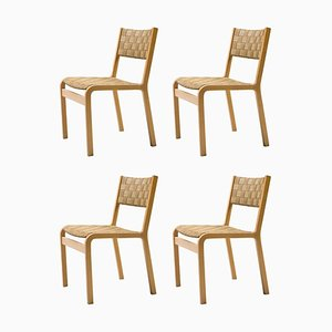 Canvas Strap Dining Chairs by Peter Hvidt, Set of 4