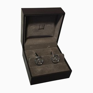 Driver Cufflinks in the Shape of a Steering Wheel from Dunhill, Set of 2
