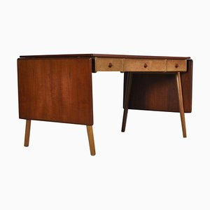 Danish Modern Oak & Teakwood Desk by Poul Volther for FDB Møbler, 1960s