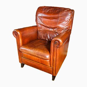 Vintage Leather Armchair in Cognac Brown