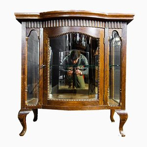 Antique Tea Cupboard with Bolling and Tray, Early 1900
