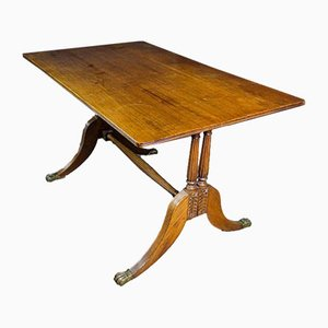 Antique Regency Style Table with Lion Paws, Early 1900