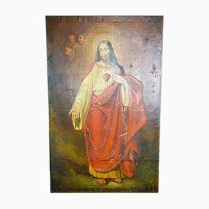 Antique Painting of Jesus, 1900s