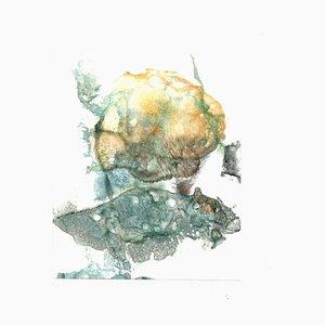 Peter Dischleit, Abstract Composition, 1973, Encre et Aquarelle sur Papier