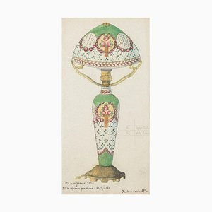 Unknown - Porzellan Lumen - Original China Tinte und Aquarell - 1890er